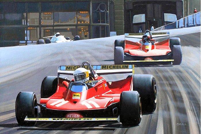 Scheckter Villeneuve painting