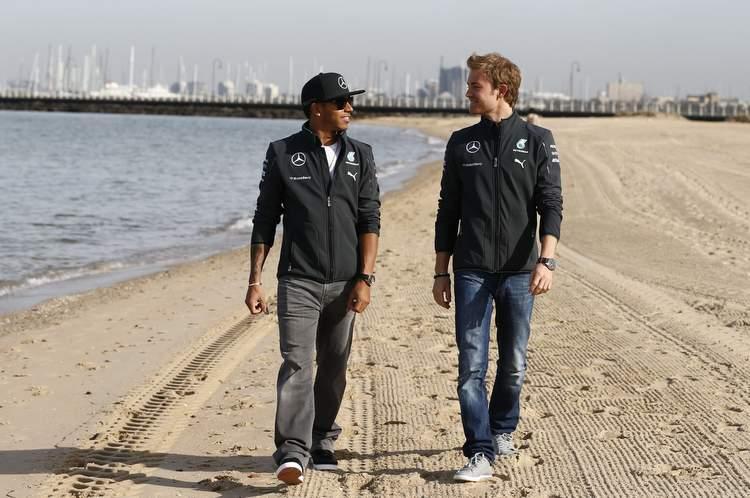Lewis Hamilton Nico Rosberg Mercedes Australian GP Melbourne