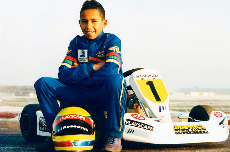 Lewis Hamilton karting