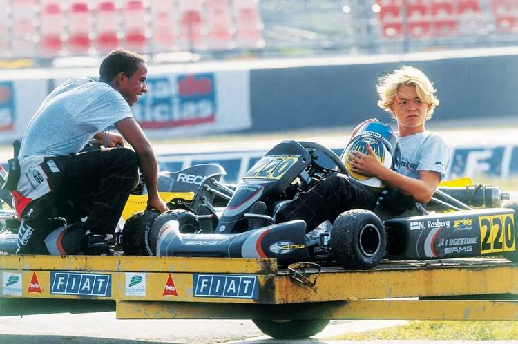 Rosberg Hamiltaon Karting