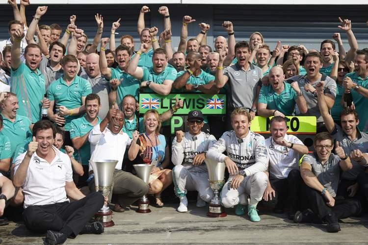 Mercedes F1 world champions Rosberg Hamilton