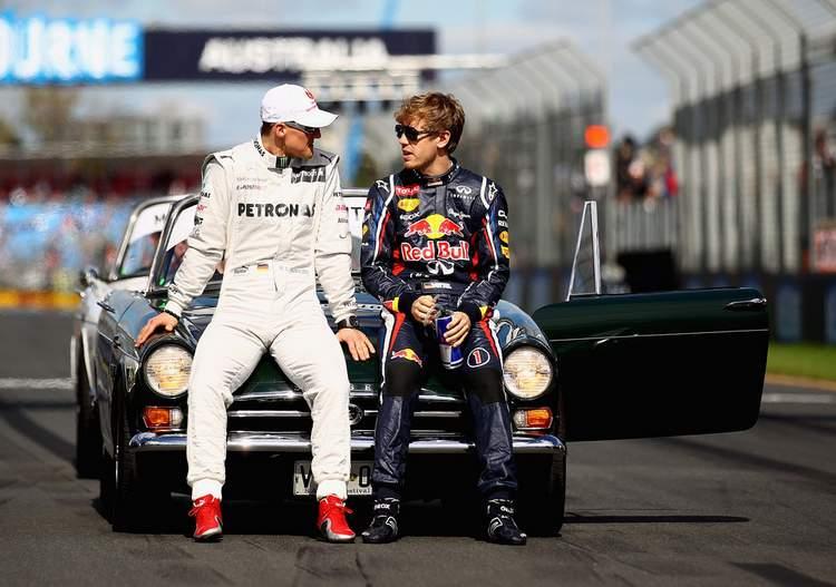 Michael+Schumacher+Sebastian+Vettel