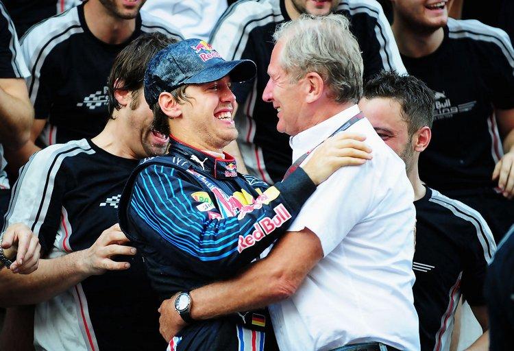 Sebastian+Vettel+Helmut+Marko