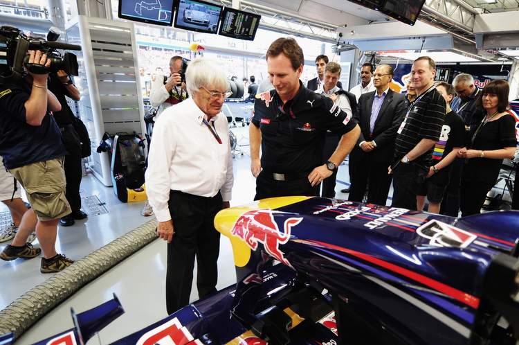 Ecclestone Horner Red Bull