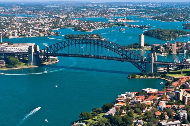 Aerial Sydney Harbour Bridge