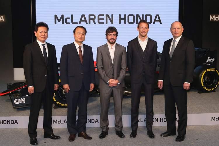 Alonso Button Arai Dennis Honda McLaren