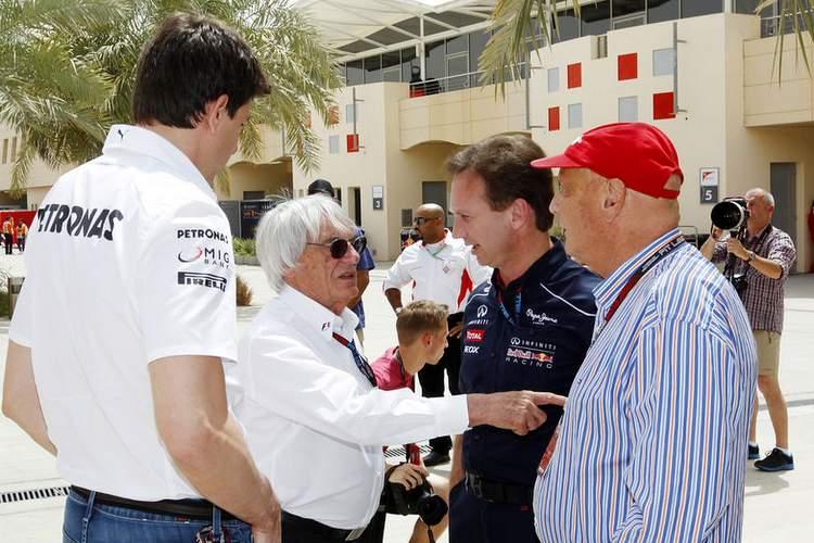 Lauda-Wolff-Ecclestone-Horner-Formel-1