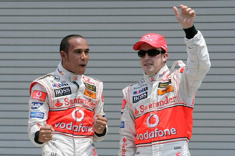 Hamilton Alonso McLaren 2007