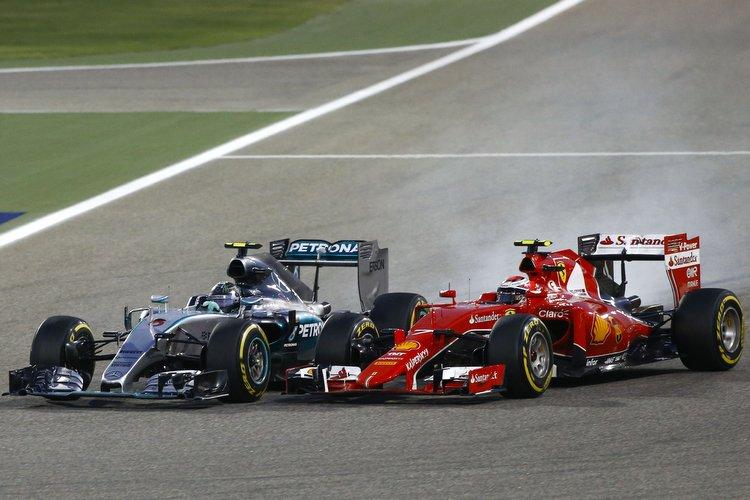 Vettel Rosberg Bahrain