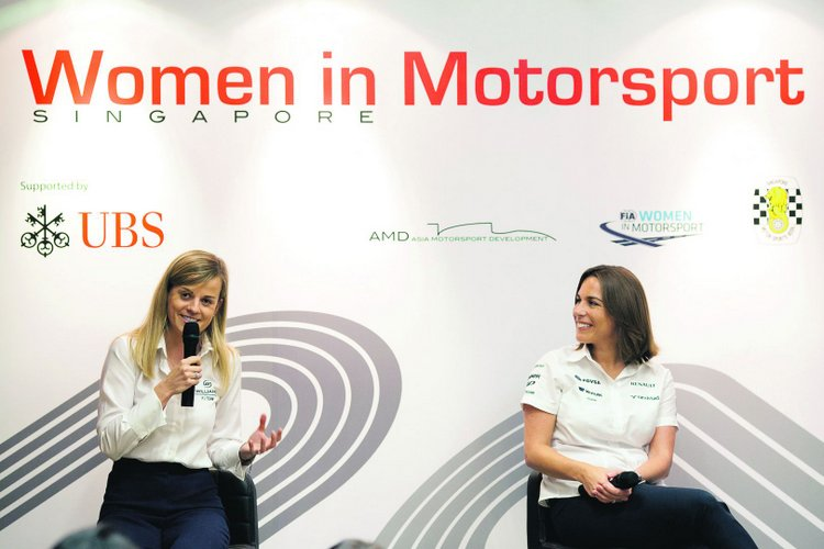 Susie Wolff Claire Williams F1