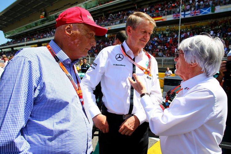Bernie+Ecclestone+Miki+Lauda+Mercedes