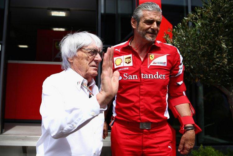 Maurizio+Arrivabene+Bernie Ecclestone