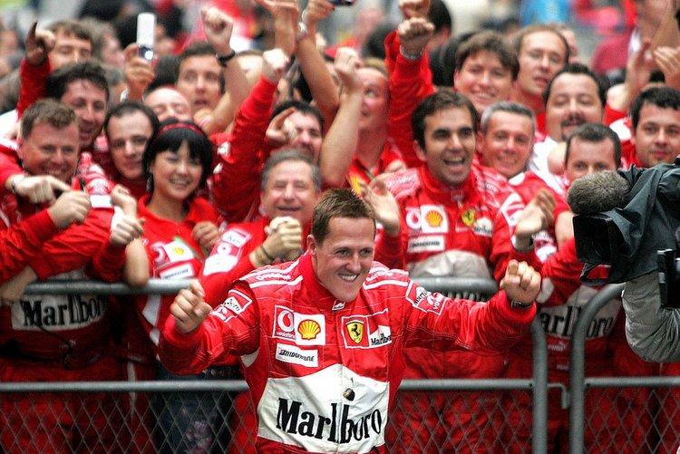 Schumacher celebrates Ferrari