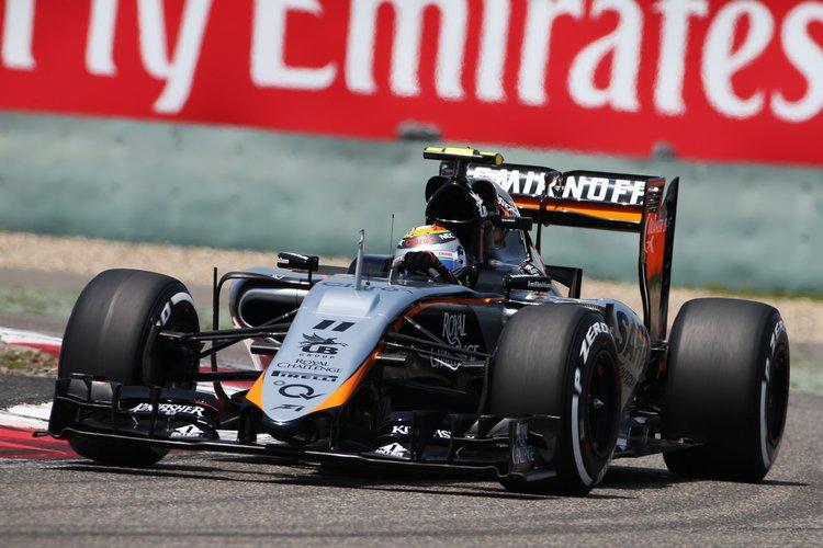 Sergio Perez (MEX) Sahara Force India F1 VJM08.Chinese Grand Prix, Saturday 11th April 2015. Shanghai, China.