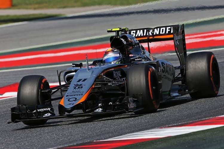 Sergio Perez (MEX) Sahara Force India F1 VJM08.Spanish Grand Prix, Saturday 9th May 2015. Barcelona, Spain.