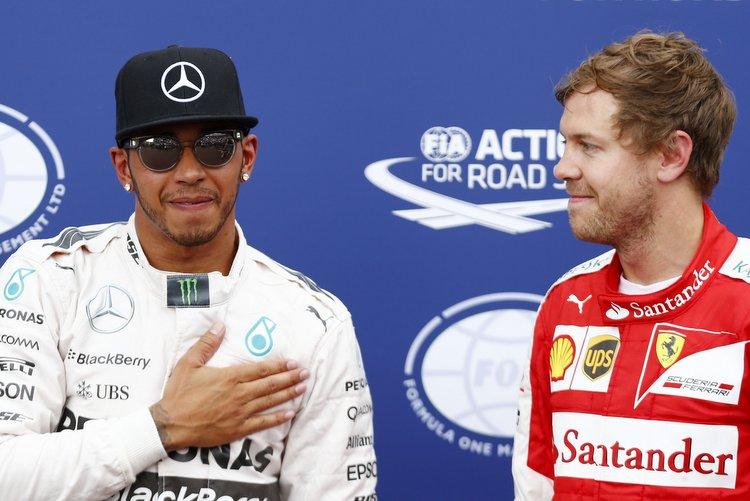Vettel Hamilton Monaco Ferrari Mercedes