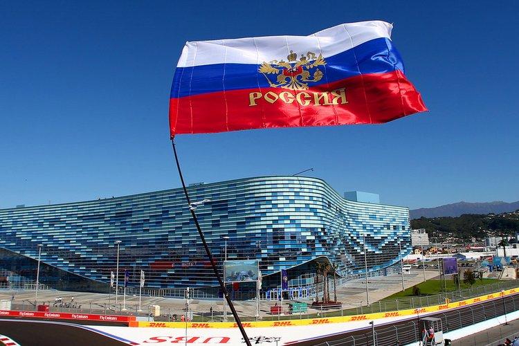 Russian Grand Prix flag