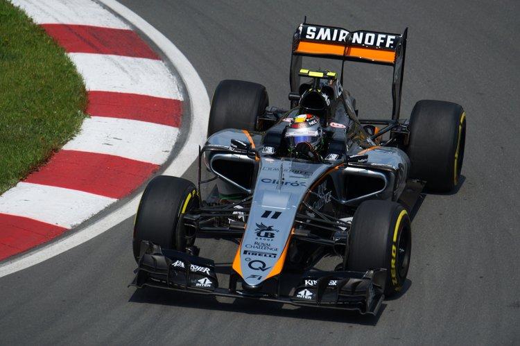 Sergio Perez (MEX) Sahara Force India F1 VJM08.Canadian Grand Prix, Friday 5th June 2015. Montreal, Canada.