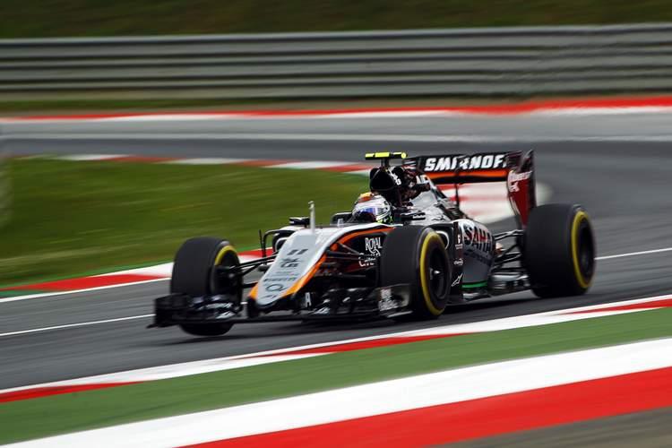 Sergio Perez (MEX) Sahara Force India F1 VJM08.Austrian Grand Prix, Friday 19th June 2015. Spielberg, Austria.