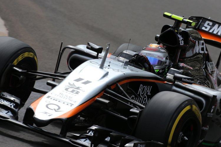 Sergio Perez (MEX) Sahara Force India F1 VJM08.Monaco Grand Prix, Thursday 21st May 2015. Monte Carlo, Monaco.
