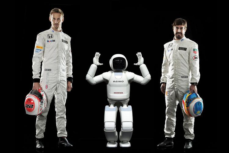 Honda Asimo Button Alonso