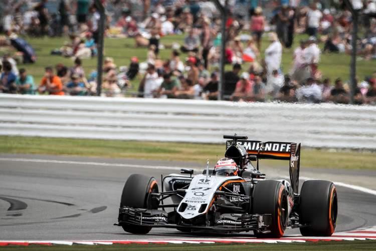 Nico Hulkenberg (GER) Sahara Force India F1 VJM08.British Grand Prix, Friday 3rd July 2015. Silverstone, England.