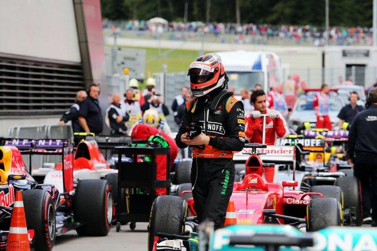 Nico Hulkenberg (GER) Sahara Force India F1 in parc ferme.Austrian Grand Prix, Sunday 21st June 2015. Spielberg, Austria.
