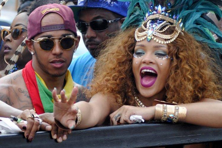 Rihanna Lewis Hamilton