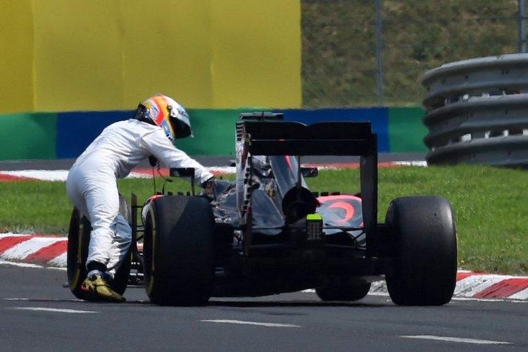 Alonso Hungary McLaren Honda push