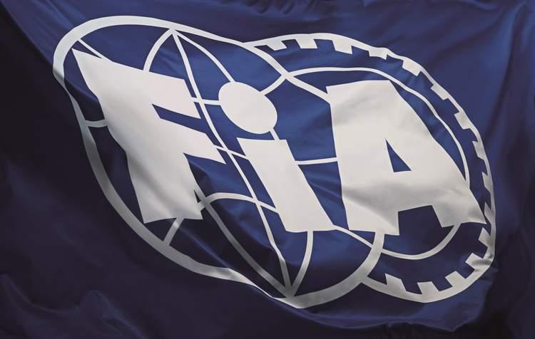 FIA flag with logo