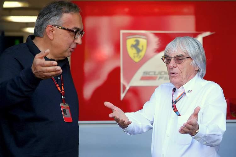 Bernie+Ecclestone+Sergio+Marchionne+F1+Grand+