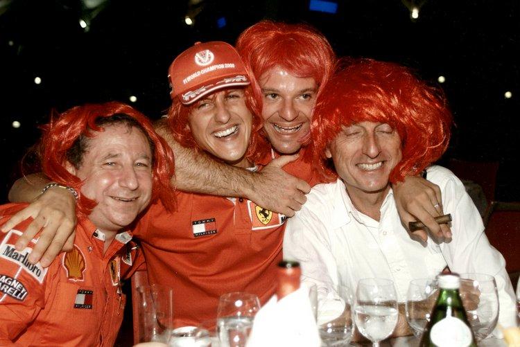 Schumacher Todt Barrichello Montezemolo