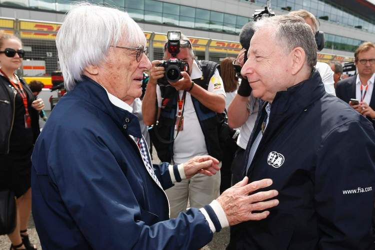 Ecclestone with Todt on the F1 grid