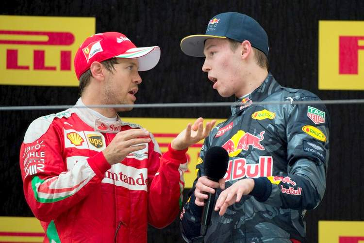 F1+Grand+Prix+of+China+Kvyat Vettel