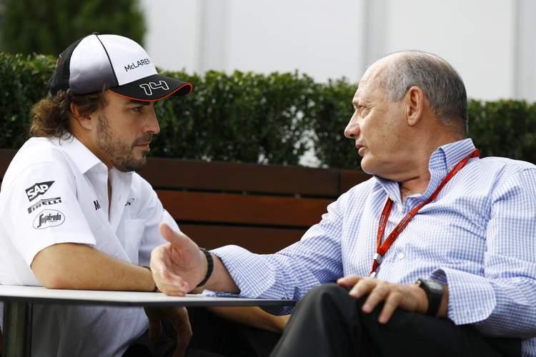 Fernando Alonso and Ron Dennis.
