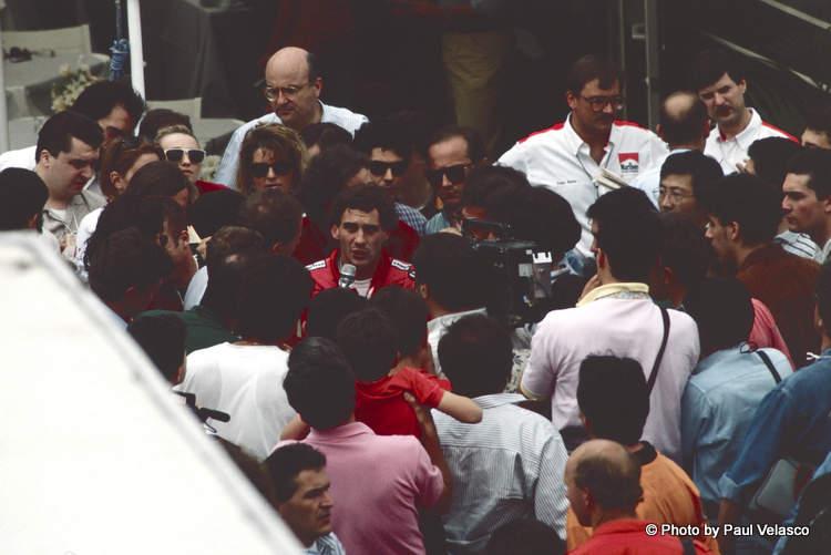 Ayrton Senna McLaren Marlboro Monaco Paul Velasco