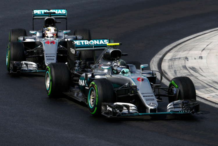 Formel 1 - MERCEDES AMG PETRONAS, Großer Preis von Ungarn 2016. Lewis Hamilton, Nico Rosberg ;Formula One - MERCEDES AMG PETRONAS, Hungarian GP 2016. Lewis Hamilton, Nico Rosberg;