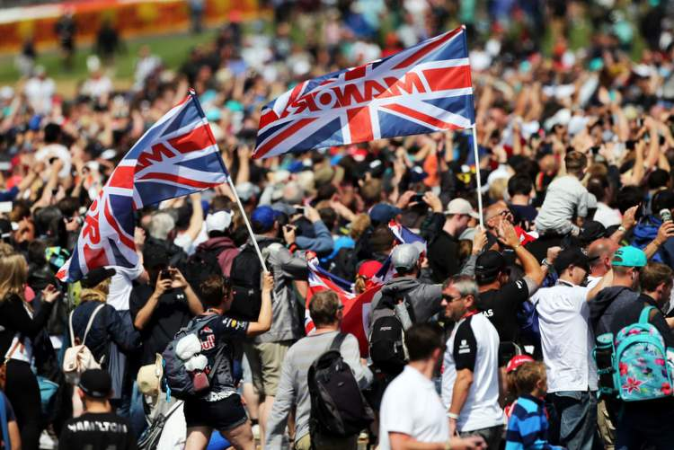 Fans invade the circuit at the end of the race. 05.07.2015. Formula 1 World Championship, Rd 9, British Grand Prix, Silverstone, England, Race Day.