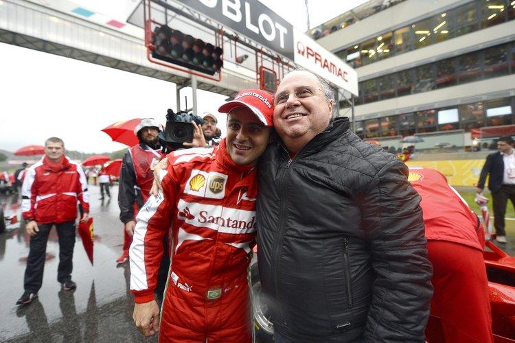 Felipe Massa Ferrari farewell with father