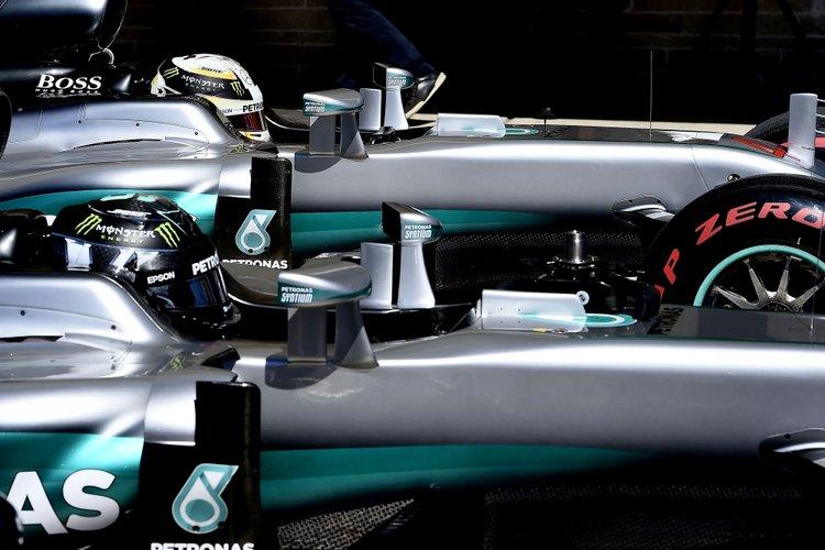 Rosberg Hamilton Mercedes F1