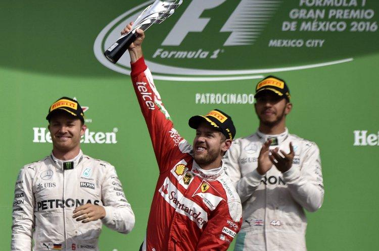Vettel podium Mexico
