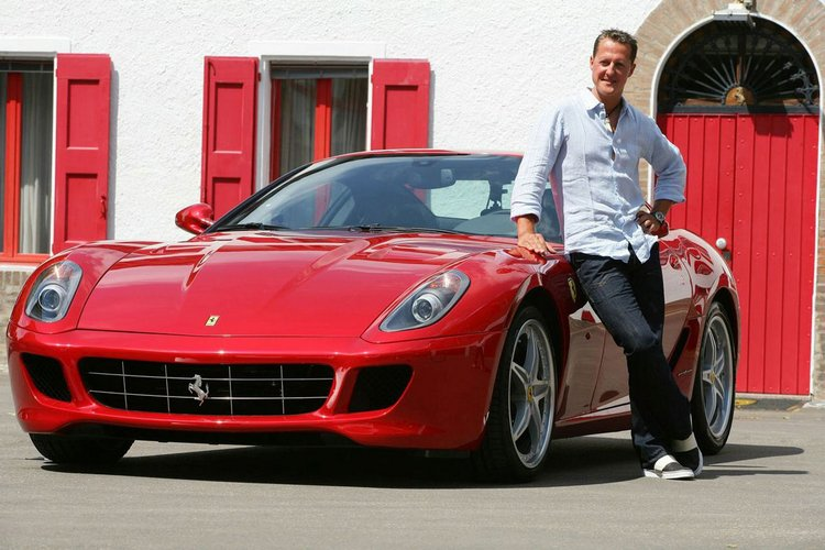 Michael Schumacher And Big Cars Collection Of Ferrari