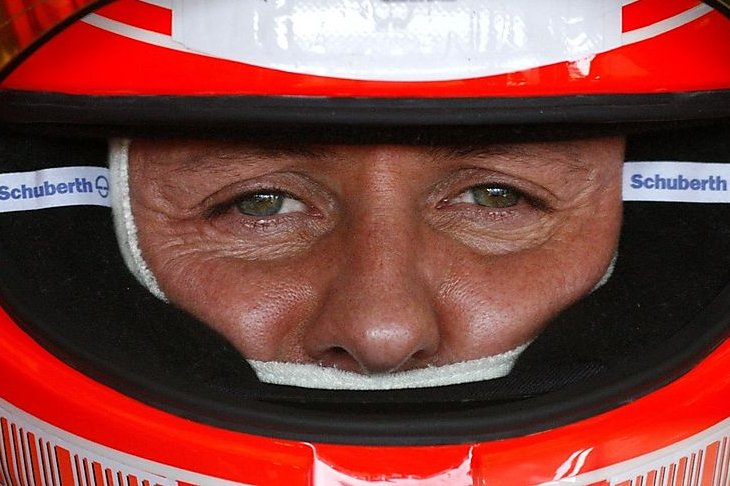 File photo of former Formula One driver Schumacher of Germany sits in a Ferrari F1 car during a training session at the Jerez racetrack in southern Spain