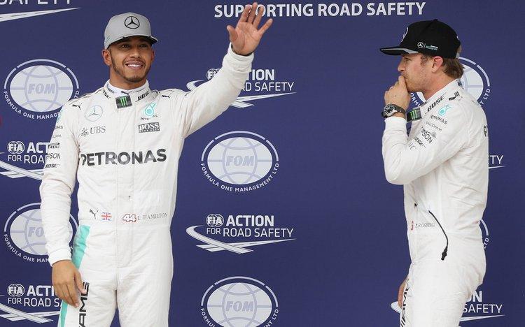 Lewis hamilton Nico Rosberg Mercedes Brazil qualifying