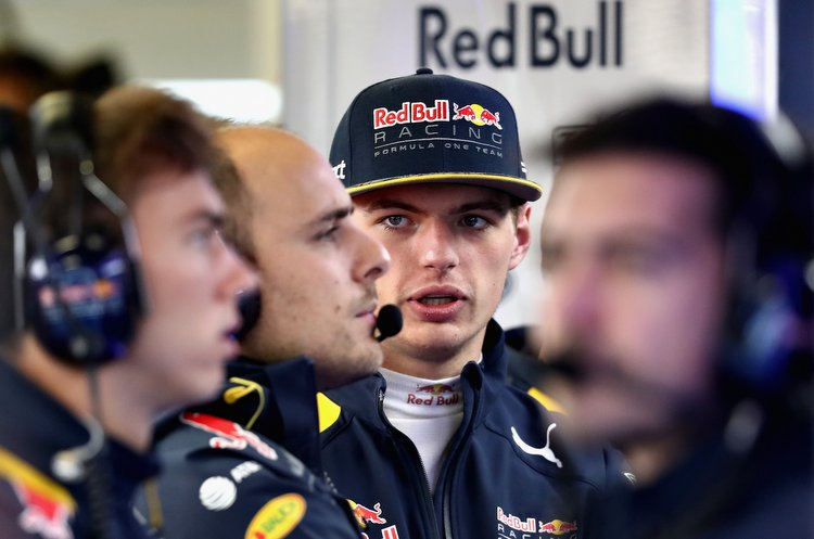 MEXICO CITY, MEXICO - OCTOBER 29:  Max Verstappen of Netherlands and Red Bull Racing in the garage during final practice for the Formula One Grand Prix of Mexico at Autodromo Hermanos Rodriguez on October 29, 2016 in Mexico City, Mexico.  (Photo by Lars Baron/Getty Images) // Getty Images / Red Bull Content Pool  // P-20161029-01016 // Usage for editorial use only // Please go to www.redbullcontentpool.com for further information. //