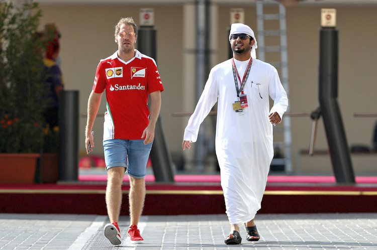 sebastian Vettel ferrari yas marina circuit