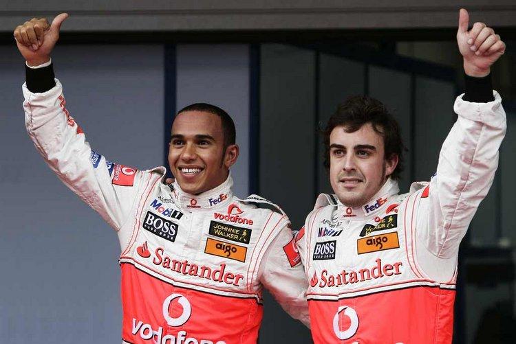 Hamilton Alonso McLaren F1 2007 formula 1 formula one