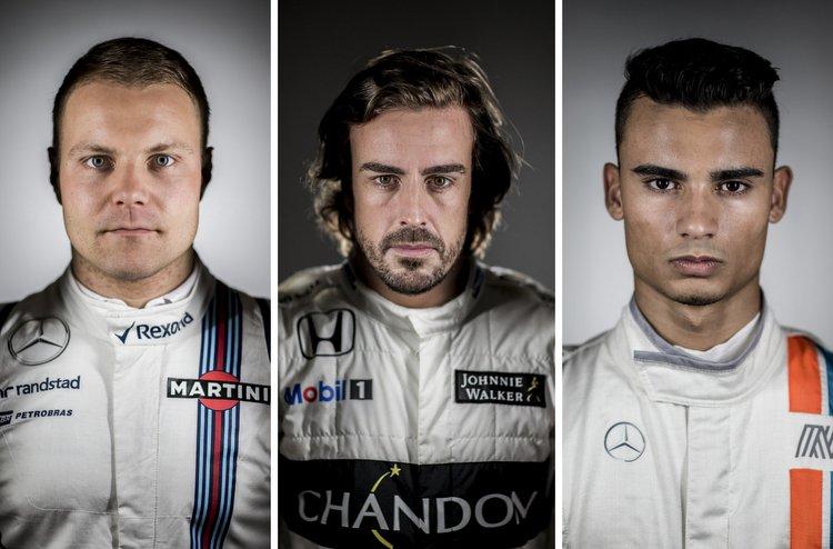 Valtteri Bottas, Fernando Alonso, Pascal Wehrlein