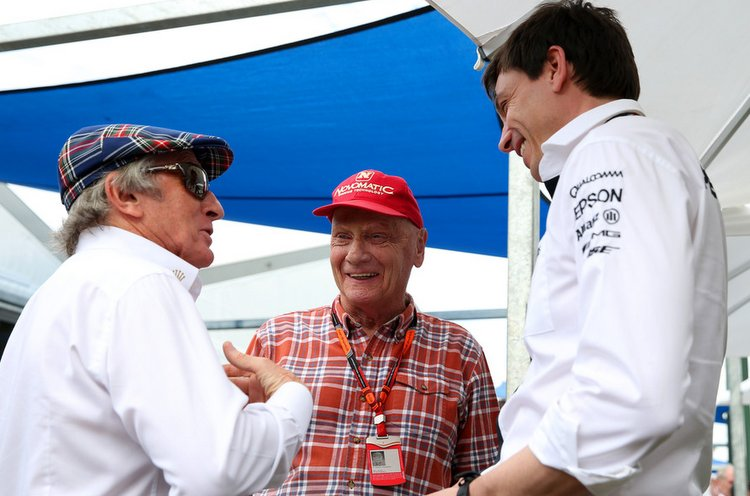 Jackie Stewart, Toto Wolff, Niki Lauda