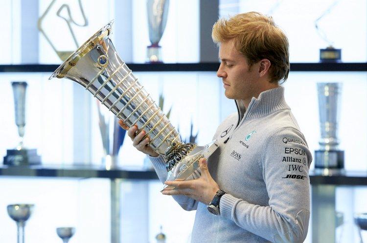 Nico Rosberg Celebrates 2016 World Drivers' Championship Title at Brackley